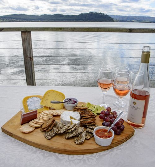 Local cheese and wine
